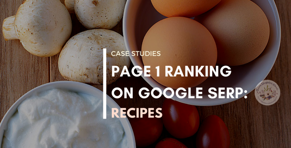 Case Studies: Recipes