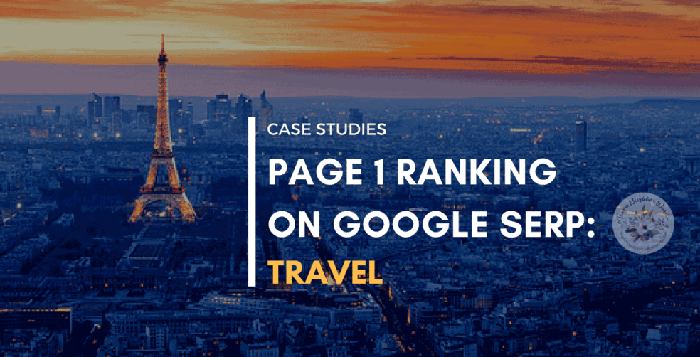 Case studies - Page 1 Google SERP Travel